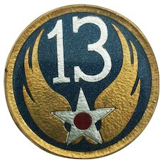 WWII 13th Army Air Force Button