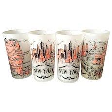 Mid Century New York Drinking Glasses