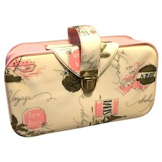 Bon Voyage 1960's Cosmetic Travel Bag