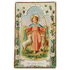 The Good Shepherd Holy Card