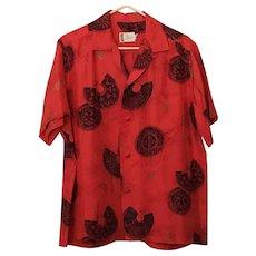 Ross Sutherland Silk Hawaiian Shirt
