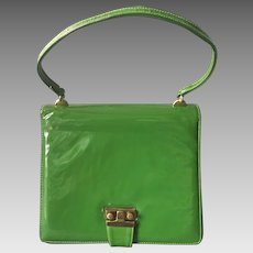 1960's Parrot Green Patent Leather Purse