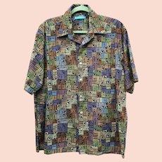a8faa45e Vintage Genuine Batik Men's Short-Sleeved Shirt Size Med-Large from ...