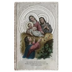 Canivet Lacey Holy Card