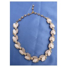 Vintage Heart-shaped Thermoset Necklace from BSK