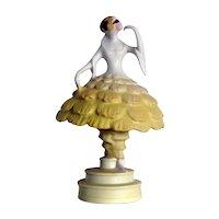 Fulper Harlequin Lamp
