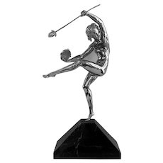 Art Deco Nude Bronze Sculpture by Alfred Gilbert