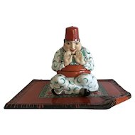 Aladin Porcelain Powder Box Vanity Set Art Deco