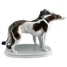 Borzoi Dogs Karl Ens Volkstedt Fine Porcelain Figurine