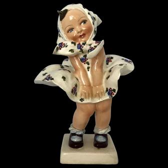 Cacciapuoti Porcelain Girl with Dress Up