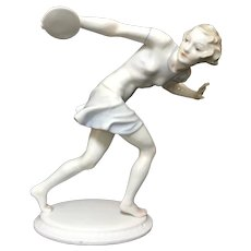 Hutschenreuther Woman Discus Thrower Figurine