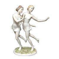 Rosenthal Dancing Nymphs Art Deco Fine Porcelain