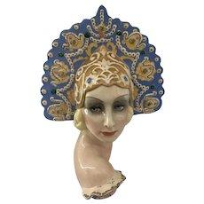 Essevi Pottery Bust Sandro Vachetti Art Deco