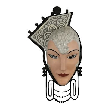 Marcel Bever Wall Mask and Sconce Fine Art Deco