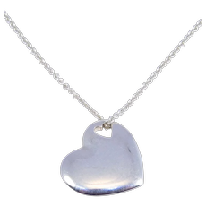 Tiffany And Co. Stencil Heart Cutout Heart Pendant Sterling