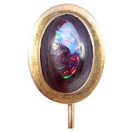 Antique 14k Boulder Opal Stickpin Beautiful
