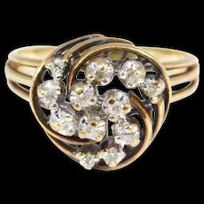 Diamond Cluster Ring In 10k Yellow Gold Estate