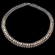 Unique Ethnic Silver Necklace Collar 800 Silver