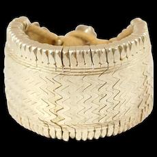 Unique Heavy Ethnic Silver Gilt Bracelet Berber Perhaps