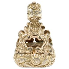 Early Victorian Ornate Large Watch Fob Pendant Charm