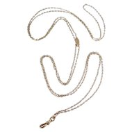 Victorian Gold Filled Slide Chain 10K Slide With Rose Cut Diamond