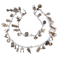 Collection 40 Charms Japanese Silver Asian Theme Necklace