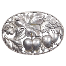 Beautiful Cini Lily Of The Valley Sterling Brooch Floral
