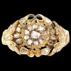 Old Cut Diamonds Bracelet Silver With Butterfly Design