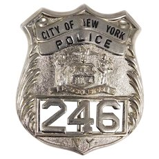 Vintage Obsolete City Of New York #246 Police Badge Collectible