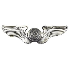 Sterling WW2 Air Force Pilot Wings Eagle 3 Inches