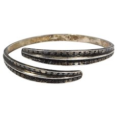 David Andersen Norway Sterling Bypass Bangle Bracelet