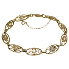 Antique 14k Beautiful Diamonds Bracelet 1 Carat Plus Total Weight