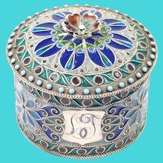 Plique A Jour 1897 Swedish Enamel Silver Box Rare