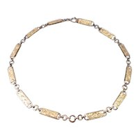 Art Nouveau Watch Chain Necklace Gold Filled Engraved Link