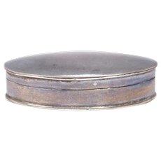Simple Elegant Pill Box Sterling Silver English 1960's