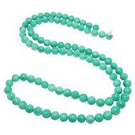 Beautiful Vintage Green Peking Glass Beads 10Mm