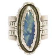 Navajo Silver Stamped Ring Robert Johnson Vintage
