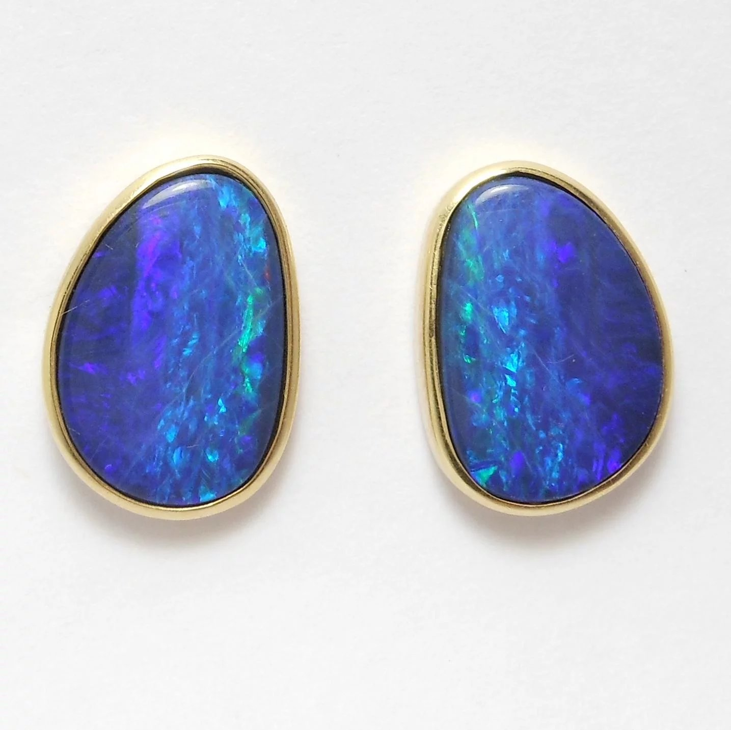 opal jewelry bl bling silver unisex jf sterling stud blue az mens earring earrings synthetic