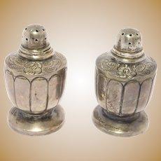 Vintage Mexican Silver Sanborn'S Salt & Pepper Shakers