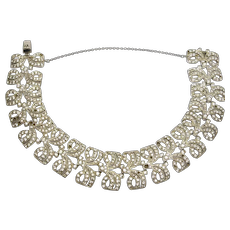 Art Deco Paste Sterling Bracelet By Ciro London