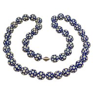 Fun Vintage Plastic Polka Dot Art Deco Beads Necklace