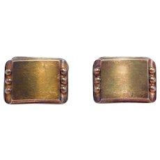 Mid Century Modernist Swedish 835 Silver Cufflinks