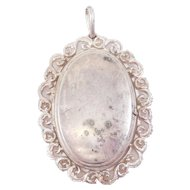 Deco Germany Sterling Filigree Locket Pendant