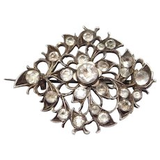Georgian Silver Paste Brooch Lovely Antique Piece