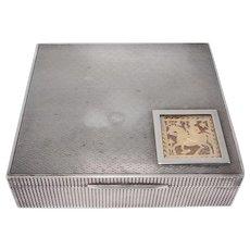 Very Unusual Sterling Humidor Or Cigarette Box Art Deco