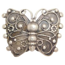 Rare Lillian Pines Sterling Arts & Crafts Butterfly Pin