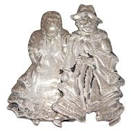 Antique Silver Figural Novelty Brooch Rare Motif