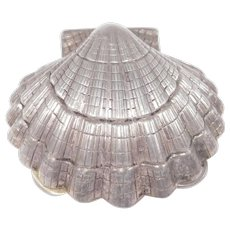 Sterling Silver Seashell Pill Box Estate Fine Piece