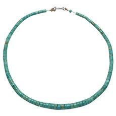 Royston Turquoise Heishi Beads Necklace