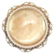14k Victorian Photo Or Portrait Brooch Pendant 5.9 Grams